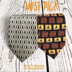 Other - 🆕men's bundle of 2 classic coordinated silk ties